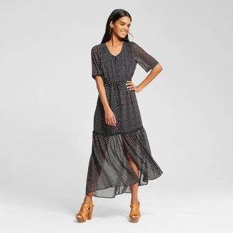 Who What Wear Women's Tiered Maxi Print
