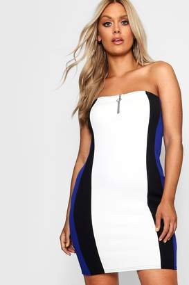 boohoo Plus Sofia O Ring Bandeau Mini Dress