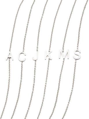 Maya Brenner Designs 14k White Gold Letter Bracelet 0lSjJ