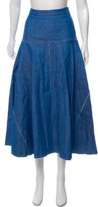 Derek Lam Denim Midi Skirt
