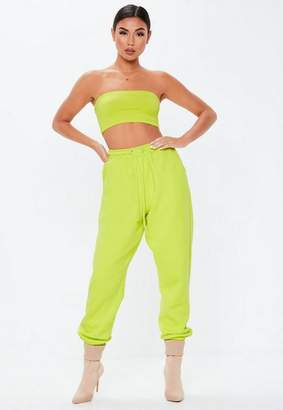 Missguided Neon Lime Oversized 90S Joggers
