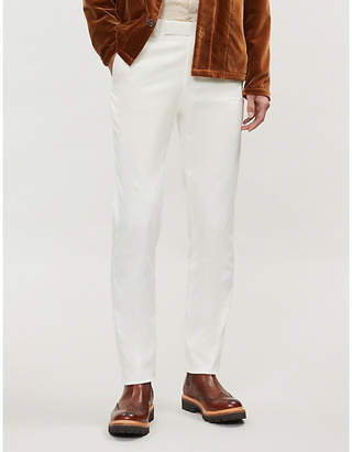 Richard James Regular-fit tapered stretch-cotton trousers