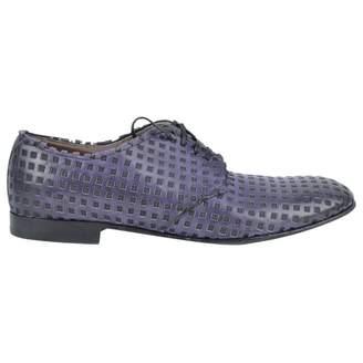 Dolce & Gabbana Purple Leather Lace ups