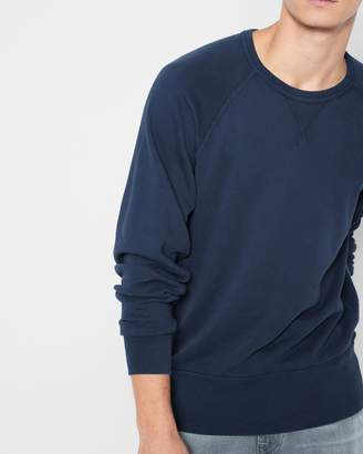 7 For All Mankind Reverse Side Panel Crewneck Sweatshirt in Washed Navy