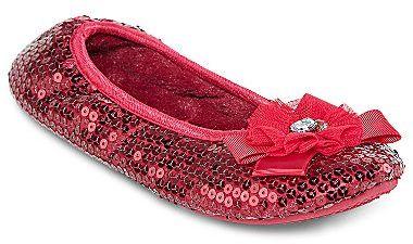 JCPenney Sequin Ballerina Slippers