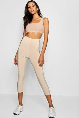 boohoo Tall Cropped Slinky Leggings