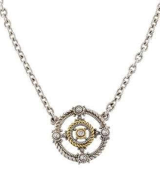 Judith Ripka Diamond Garland Pendant Necklace
