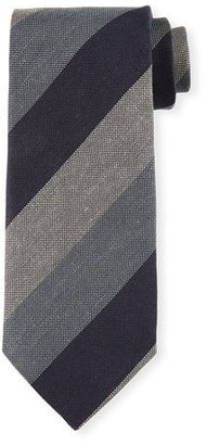TOM FORD Wide-Stripe Tweed Tie, Blue $250 thestylecure.com