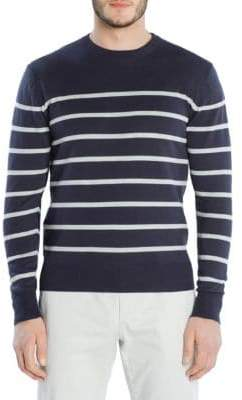 Eleventy Striped Crewneck Sweater