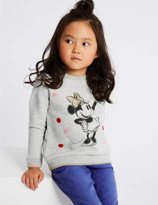 Marks and Spencer Minnie Mouse Sweatshirt (3 Months - 7 Years)