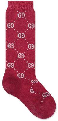 Gucci Children's cotton GG lurex socks