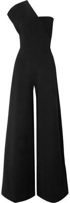 Stella McCartney - One-shoulder Stretch-knit Jumpsuit - Black