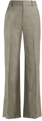 Nili Lotan Sullivan Straight Leg Wool Trousers - Womens - Grey
