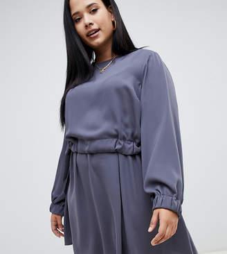 Asos DESIGN Curve ruched waist chuck on mini dress