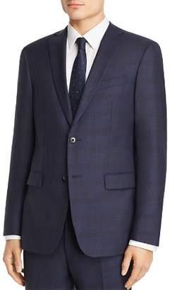 John Varvatos Tonal Shadow-Plaid Wool Slim Fit Suit Jacket