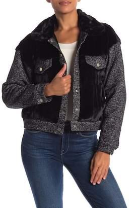 Fate Faux Fur Contrast Jacket