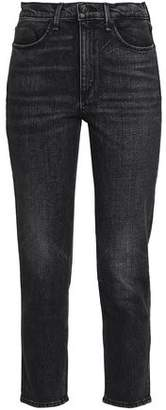 Rag & Bone Cropped High-Rise Slim-Leg Jeans