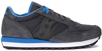 Saucony Sneaker Model Jazz In Grey And Light Blue Suede And Fabric