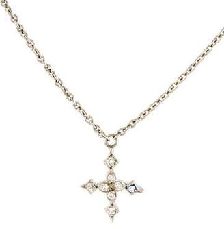 Cathy Waterman Platinum Diamond Star Pendant Necklace