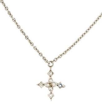 Cathy Waterman Platinum Diamond Star Pendant Necklace