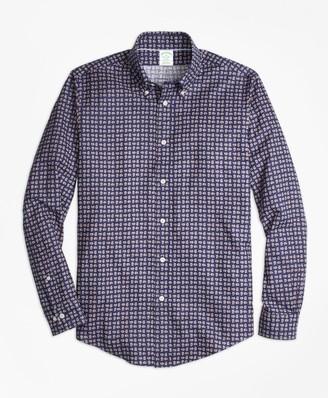 Brooks Brothers Milano Fit Mini-Paisley Print Sport Shirt