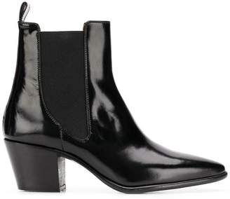 Paris Texas cuban heel ankle boots