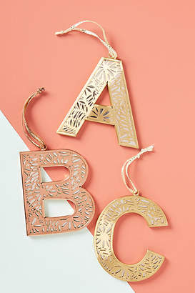 Anthropologie Metal Monogram Ornament