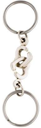 Tiffany & Co. Sterling Silver Double Heart Keychain