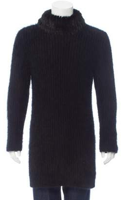 Fendi Mink-Trimmed Angora Sweater w/ Tags