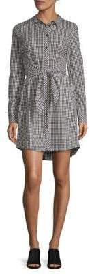Sanctuary Gingham Tie-Front Shirt Dress