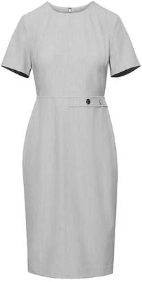 Banana Republic Machine-Washable Birdseye Side-Button Sheath Dress
