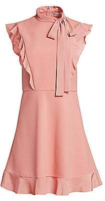 RED Valentino Women's Tie Neck Fit-And-Flare Dress