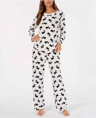 Charter Club Petite Thermal Fleece Pajama Set, Created for Macy's