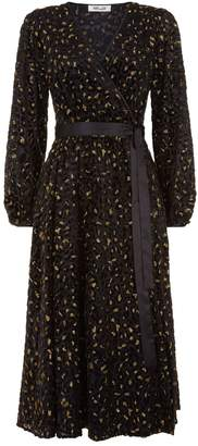 Diane von Furstenberg Leopard Devore Wrap Dress