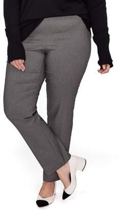 Michel Studio Slim Plaid Pants