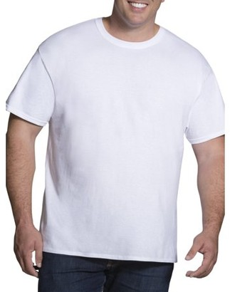 Fruit of the Loom Big Men's Collection White Crew Sizes up to 5XB, 3 Pack