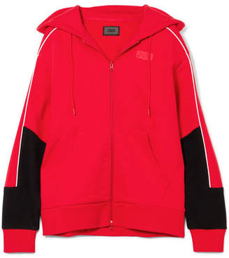 Kith - Bristol Oversized Printed Cotton-fleece Hooded Top - Red
