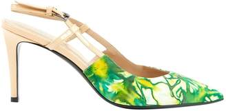 Barbara Bui Green Leather Heels