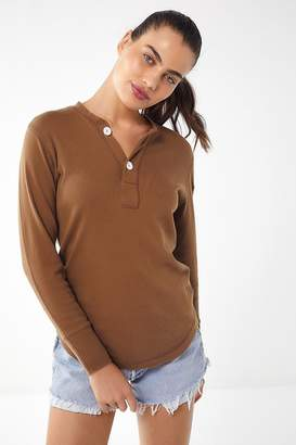 Urban Outfitters Shrunken Surplus Henley Top