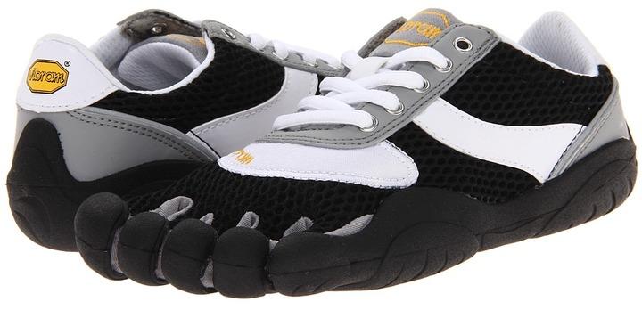 Vibram FiveFingers Speed (Little Kid/Big Kid/Adult) (Black/White) - Footwear