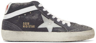 Golden Goose Grey Suede Mid Star Sneakers
