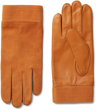 Weekday Issue Leather Gloves - Orange