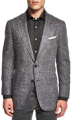Isaia Donegal Two-Button Jacket, Gray $2,995 thestylecure.com