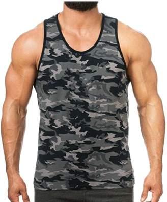 68d7178e66a4b LKCEN-CA Men s Fashion Camouflage Undershirt Tank Top Gym Sleeveless Vest  10 XL