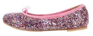 Bloch Girls' Leather Embellished Flats