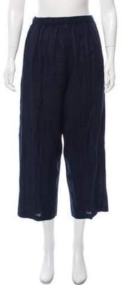 eskandar Linen High-Rise Wide-Leg Pants