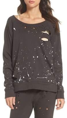 Chaser Distressed Fleece Sweatshirt