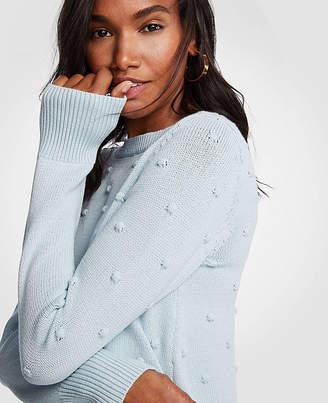 Ann Taylor Petite Popcorn Stitch Sweater