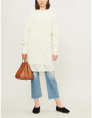 Theory Long-sleeved cashmere sweatshirt dress