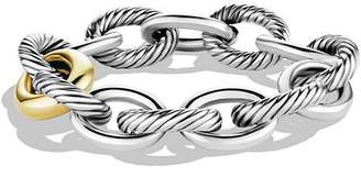 David Yurman Oval Chain Extra-Large Link Bracelet with Gold